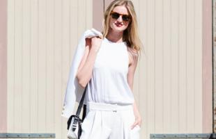 秋季白色裤子 搭配不同上衣带来的不同感觉